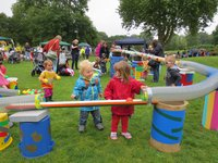 Ball Run at an under 5s Fun Day